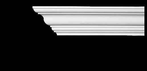 Карниз потолочный гладкий Classic Home 2-1003 flex, лепной декор из полиуретана