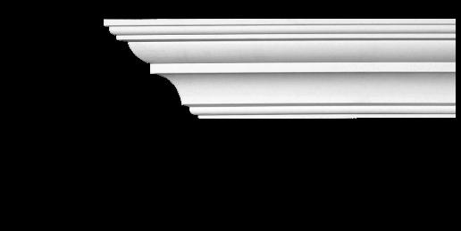 Карниз стельовий гладкий Classic Home 2-1004 flex, ліпний декор з поліуретану