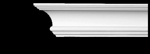 Карниз потолочный гладкий Classic Home 2-1140, лепной декор из полиуретана