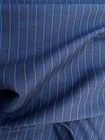 Льняная костюмная ткань в тонкую полоску, фото 1