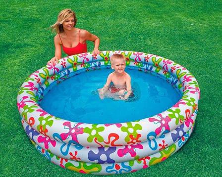 Дитячий надувний басейн Intex 56440 Різнобарвний сплеск, фото 2