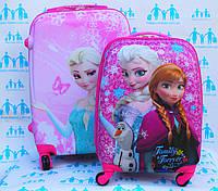 Набор чемодан детский с кодовым замком 52 и 45 см ручная кладь Холодное Сердце Frozen 11961 двусторонний