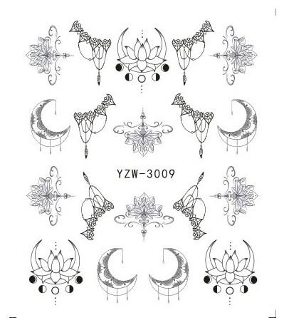 Наклейки для ногтей YZW-3009