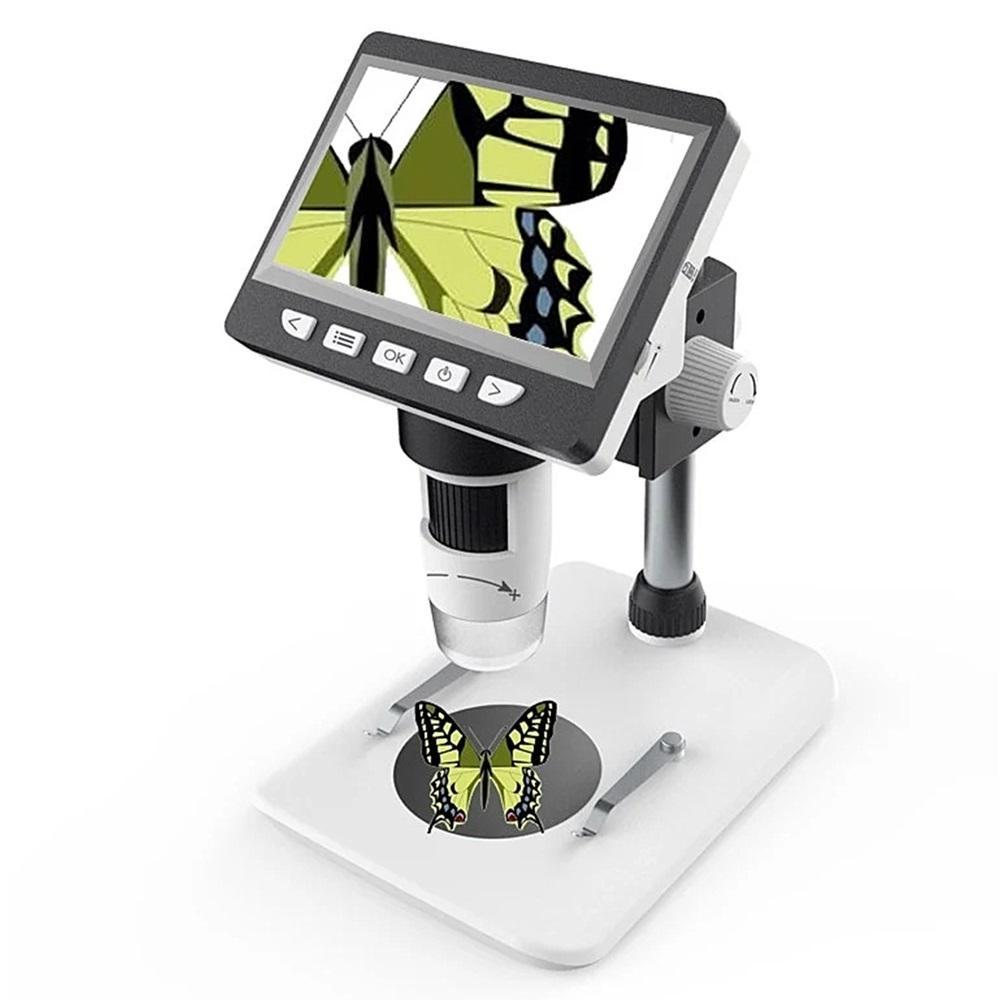 Цифровий мікроскоп з екраном MUSTOOL G700 1-700X  LCD HD дисплей 4.3 дюйма. Світлодіодна підсвітка