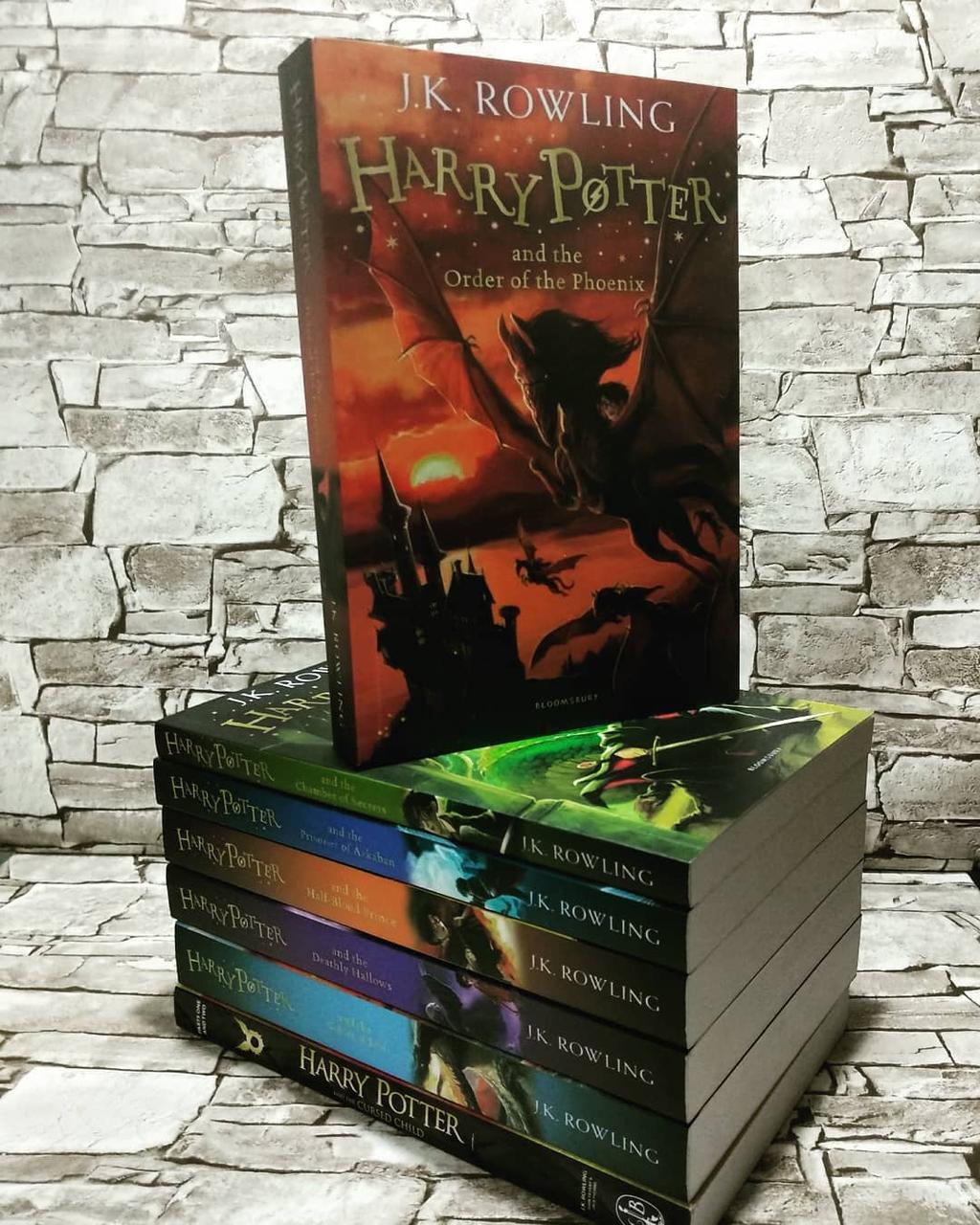 Набір книг Гаррі Поттера Джоан Роулінг, Harry Potter англійською мовою, повний набір 8 книг