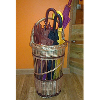 Зонтовница для зонтов, тростей плетеная