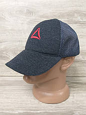 Мужская бейсболка, кепка, сетка, с вышивкой в стиле Reebok (реплика), на регуляторе, фото 3