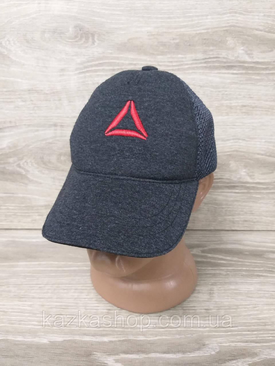 Мужская бейсболка, кепка, сетка, с вышивкой в стиле Reebok (реплика), на регуляторе