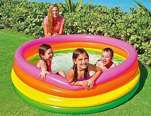 Бассейн надувной Радуга 86 25см.для детей 1-3года 57104 Интекс Intex, фото 3