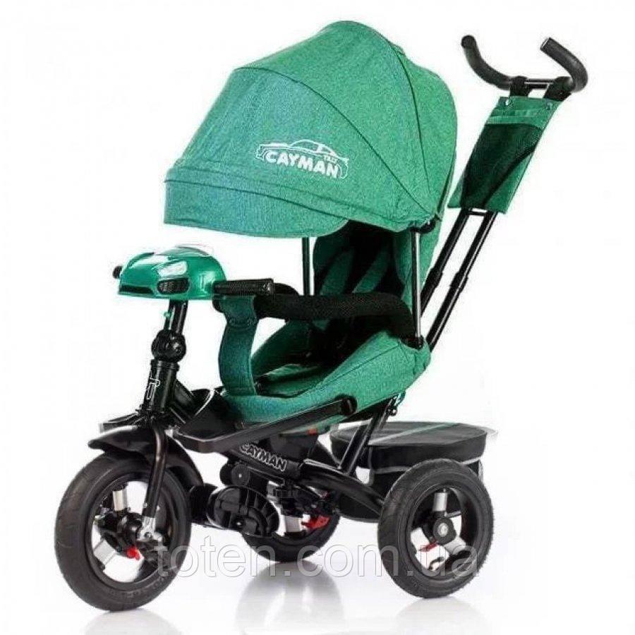 Велосипед трехколесный TILLY CAYMAN пульт   T-381/2 Len Лен  зеленый