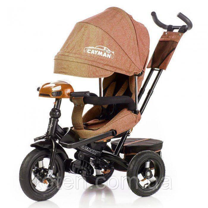 Велосипед трехколесный TILLY CAYMAN пульт   T-381/2 Len Лен  коричневый