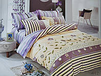 Сатиновое постельное белье евро ELWAY 5012