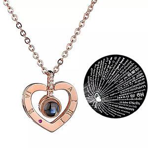 "Кулон Сердца ""Я тебя люблю"" на 100 языках мира.002"