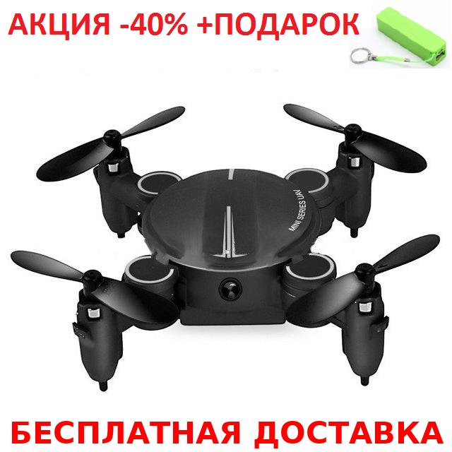 Карманный селфи-дрон Explorer 419 mini Original size quadrocopter + повербанк 2600 mAh