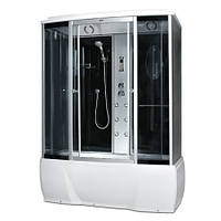 Гідробокс Miracle з електронікою (сенсор), 170 х 85 см, профіль сатин, скло сіре