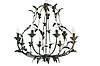"""Люстра кованая потолочная  """"Весна""""  с хрусталем золото-лак на 5 ламп, фото 2"""