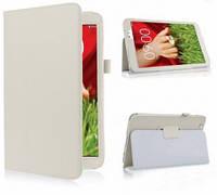 Кожаный чехол-книжка TTX с функцией подставки для LG G Pad 8.3 (V500) Белый