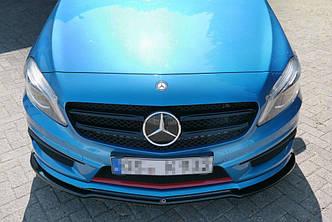 Диффузор переднего бампера накладка губа тюнинг Mercedes A W176 AMG-Line