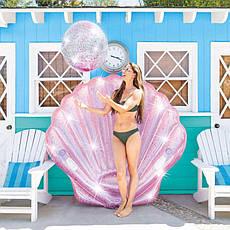 Надувной плотик Intex 57257 Жемчужина (178 x 165 x 24 см) Pink Seashell Island, фото 3