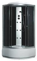 Гидробокс Fabio, 100 х 100 см, профиль сатин, стекло серое, заднее стекло черное