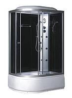 Гидробокс Fabio c электроникой, 120 х 80 см, профиль сатин, стекло серое, заднее стекло черное