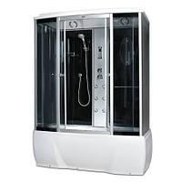 Гидробокс Miracle с электроникой (сенсор), 150 х 85 см, профиль сатин, стекло серое