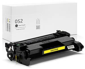 Совместимый картридж Canon 052 (2199C001), чёрный, увеличенный ресурс (3.100 копий), аналог от Gravitone