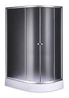Душевой угол Sansa S120-80/15L, асимметрия, профиль сатин, стекло фабрик