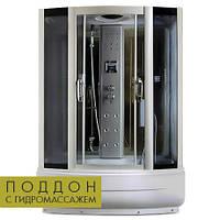 Комбінований гідробокс Miracle з електронікою, 150 х 85 см, профіль сатин, скло сіре, фото 1
