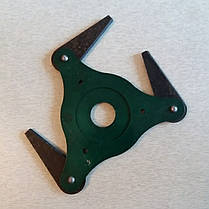 Нож триммера 3 лопастной сегментный мотокосы 2Т, фото 3