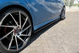 Диффузоры порогов накладка тюнинг Mercedes A W176 AMG-Line