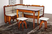 Кухонный комплект Микс Мебель Ромео (куток+стол+2 табуретки)