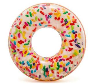 Надувной круг-тюбинг Intex 56263 Пончик с присыпкой, фото 2