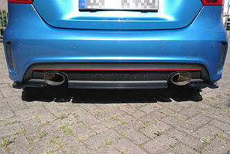 Диффузор заднего бампера накладка юбка тюнинг Mercedes A W176 AMG-Line