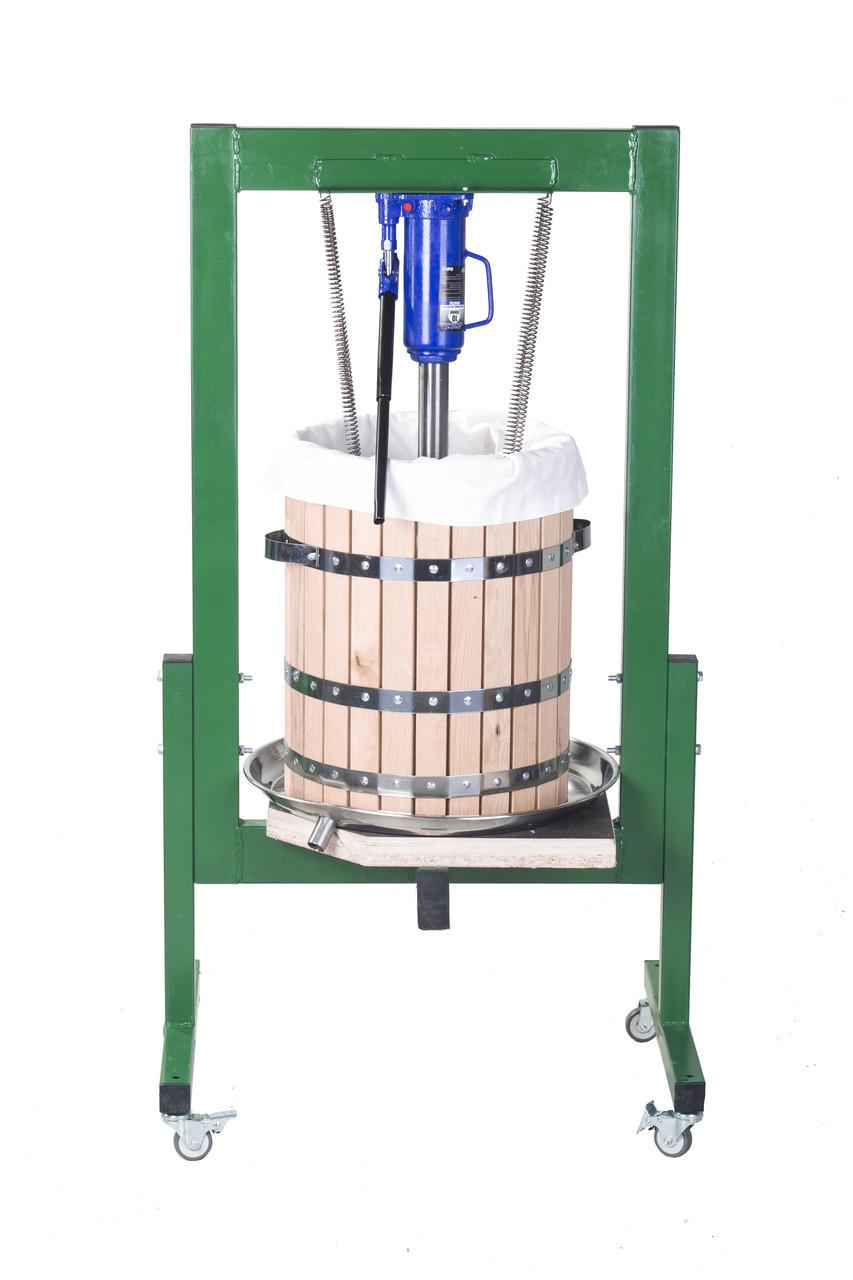 Пресс для яблок и винограда на 50 литров, гидравлический 10 тонн