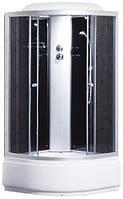 Душевая кабина Sansa 9900A, 100 х 100 см, профиль сатин, стекло серое, заднее стекло черное