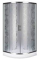 Душевой угол Sansa SH-90/15, профиль brushed, стекло матовое-sharm, фото 1