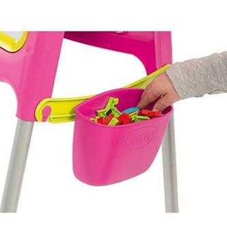 "Двухсторонний мольберт ""Pink"" на металлических ножках, 52х54х105 см «Smoby» (410303), фото 2"