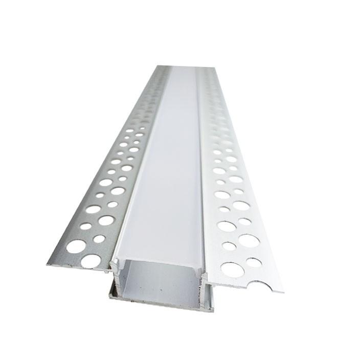 Алюмінієвий Штукатурний led-профіль ЛПШ-10 + лінза в комплекті матова