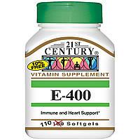 Vitamin E 400 (Витамин Е 400) 110 капсул, 21st Century