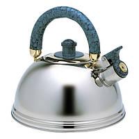 Чайник Kamille 2.3 л з нержавіючої сталі зі свистком KM-0673