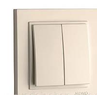 Выключатель 2-клавишный Mono Electric DESPINA крем
