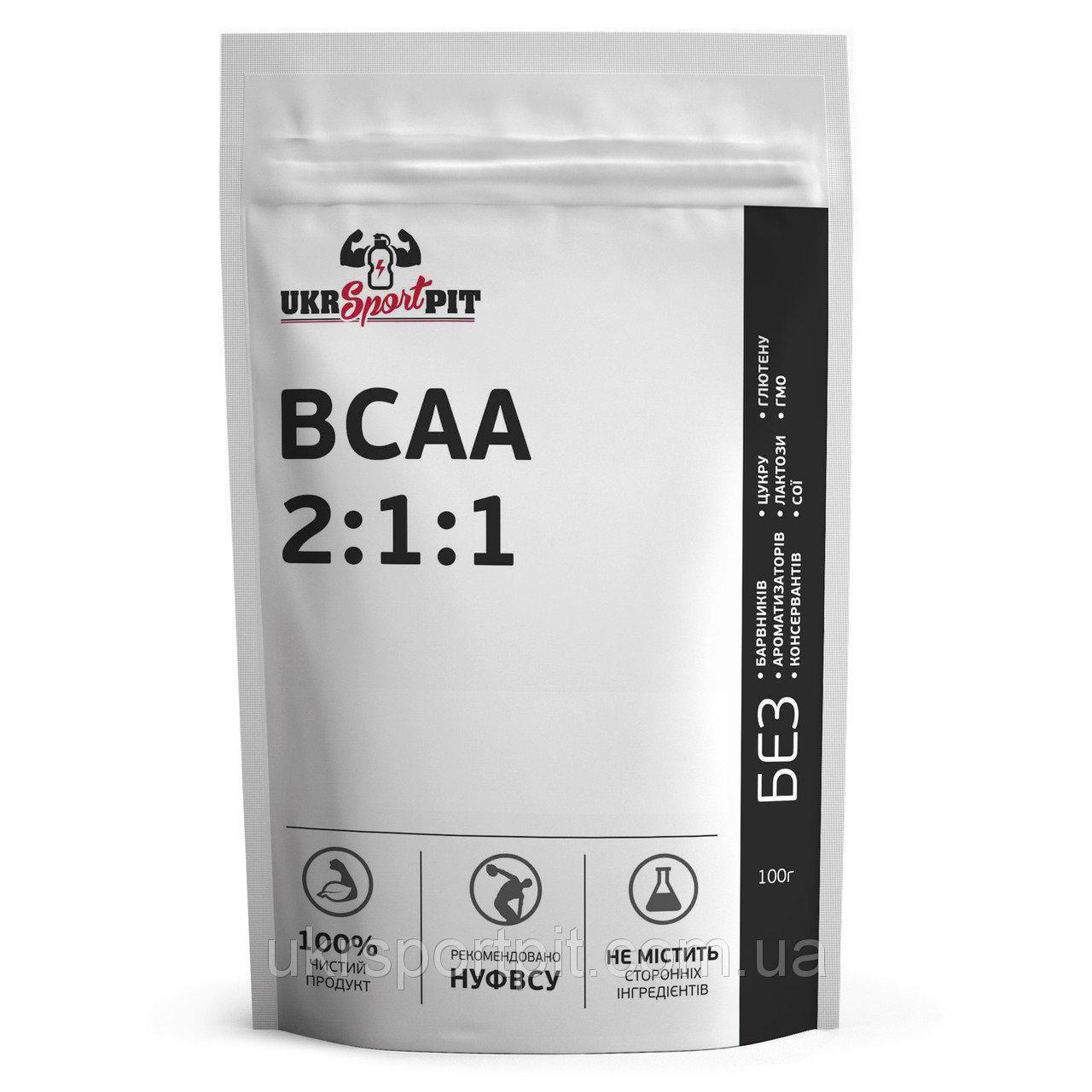 BCAA 2:1:1 (микропомол, в чистом виде) 100 г Без вкусовых добавок, 1000г.