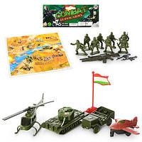 Набір ігровий, комбат, військова техніка, солдати, ігрове поле, в кульку, 17,5-28-4,5 см