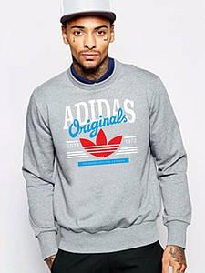 Чоловічий спортивний світшот Adidas (Адідас), сіра