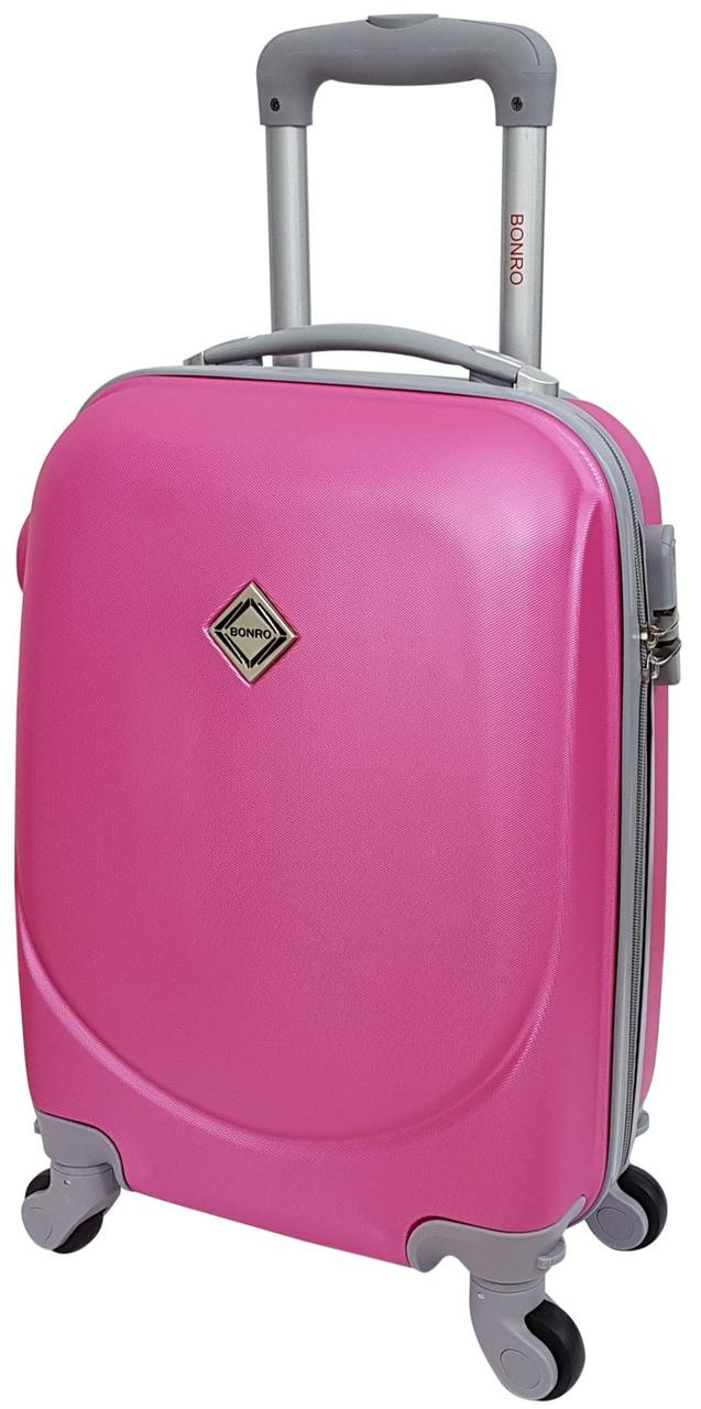 Чемодан ручная кладь Bonro Smile (мини). Цвет розовый.