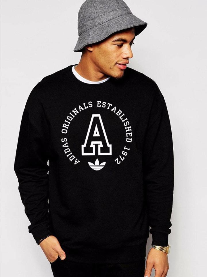 Чоловічий спортивний світшот Adidas (Адідас), чорний