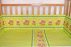 """Детское постельное белье в кроватку """"Бим Бом"""" комплект 7 ед. (мишка в круге салатовый), фото 2"""