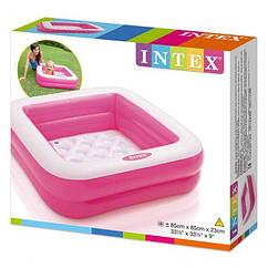 Дитячий надувний басейн Intex 57100 Play Box Pools (85х85х23 см) для дачі, пляжу, літа, дітей