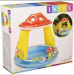 Надувной детский бассейн Intex  «ГРИБОЧЕК» для детей, для семьи, дачи, лета, пляжа